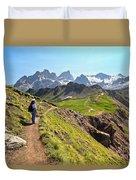 Dolomiti - Trekking In Val Ldi Fassa Duvet Cover