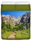 Dolomiti -landscape In Contrin Valley Duvet Cover