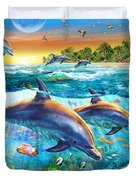 Dolphin Bay Duvet Cover by Adrian Chesterman