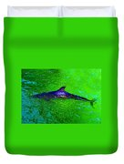 Dolphin In The Shallows Duvet Cover