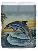 Dolphin Jumping Duvet Cover