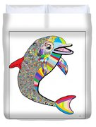Dolphin - The Devil's In The Details Duvet Cover