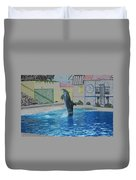 Dolphin Walking On Water Digital Art Duvet Cover