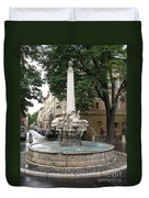 Dolphinfountain - Aix En Provence Duvet Cover