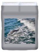 Dolphins Smile Duvet Cover