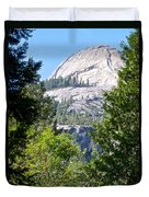 Dome Next To Half Dome Seen From Yosemite Valley-2013 Duvet Cover