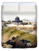 Dome Of The Rock Duvet Cover