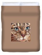 Domestic Tabby Cat Duvet Cover