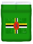 Dominica Flag Duvet Cover