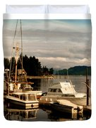 Domino At Alderbrook On Hood Canal Duvet Cover