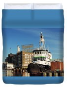 Domino Sugars Baltimore With A Boat Duvet Cover