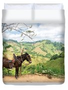 Donkey And Hills Duvet Cover