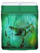 Donkey-featured In Nature Photography Group Duvet Cover