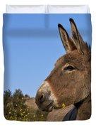 Donkey In Greece Duvet Cover