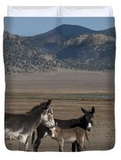 Donkeys In The Colorado Rockies Duvet Cover