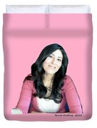 Donna In Pink Duvet Cover