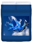 Donna's 1st Blue Bird Flight Duvet Cover