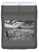 Don't Fence Me In - Black And White Duvet Cover