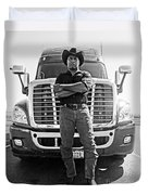 Don't Mess With My Truck Duvet Cover