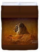 Don't Wake A Sleeping Tiger Duvet Cover