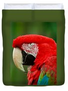 Dont You Dare To Stare Macaw Duvet Cover