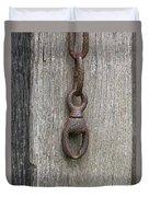 Door Chain In Color Duvet Cover
