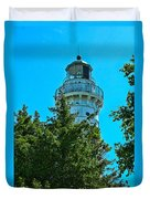 Door County Wi Lighthouse Duvet Cover