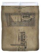 Door Lock Patent Duvet Cover