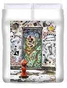 Door Mosaic Duvet Cover