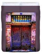 Door Number 5 Duvet Cover
