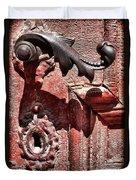 Doorknob Vintage Mechanism Duvet Cover