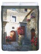 Doors In Bagnoregio Duvet Cover