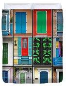 Doors New Orleans Duvet Cover by Christine Till