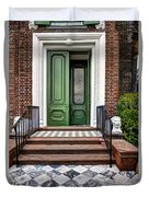 Doors Of Historic Charleston Duvet Cover