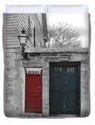 Doors Of St. Augustine Duvet Cover