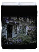 Doorway And Flowers Two Duvet Cover