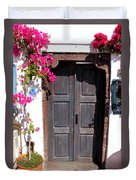 Doorway Oia Santorini Greek Islands Duvet Cover