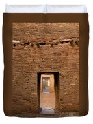 Doorways In Pueblo Bonito Duvet Cover