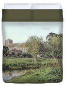 Dorchester Abbey, Near Wallingford, Autumn Evening Duvet Cover