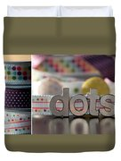 Dotty Diptych Duvet Cover