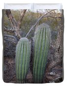 Double Barrel Saguaro Duvet Cover