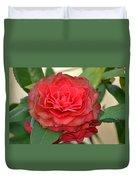 Double Blossom Camelias Duvet Cover