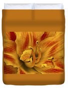 Double Daylily Duvet Cover