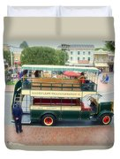 Double Decker Bus Main Street Disneyland 02 Duvet Cover