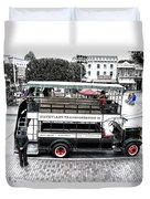 Double Decker Bus Main Street Disneyland Sc Duvet Cover