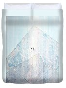 Double Doors To Peaceful Mountain Duvet Cover