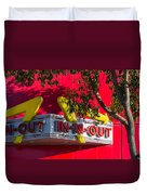 Double Double With Cheese Animal Style Yum Duvet Cover