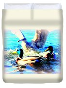 Double Dip Duck And See Gull  Duvet Cover
