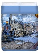 Double Header Nevada Northern Railway #1 Duvet Cover