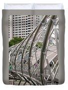 Double Helix Bridge 01 Duvet Cover